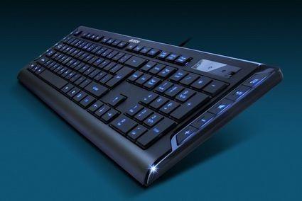 teclado slim iluminado led azul a4tech kd-600l teclas baixa