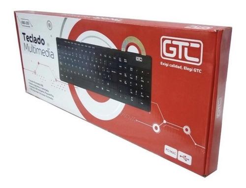 teclado slim usb cable 1.8mts stand pie titan belgrano