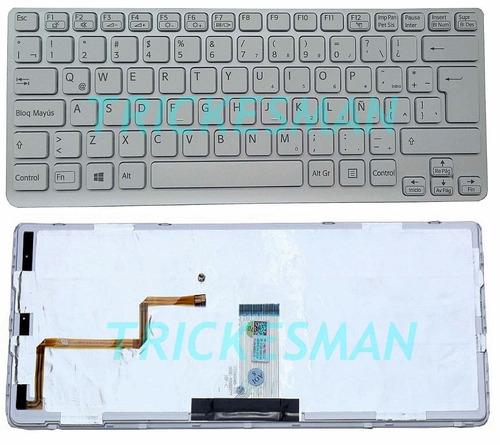 teclado sony sve14 iluminado/sve 14/sve14111elw/ sve14138ccw