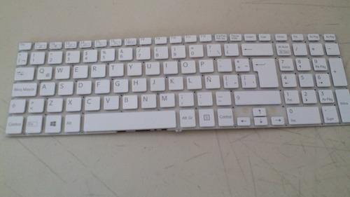 teclado sony vaio fit 15 15e 15a svf15 svf15a blanco español