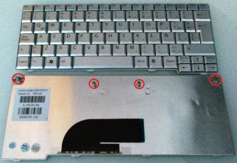 Keyboard  Sony Vaio PCG-21313M PCG-21313L PCG-21313T PCG-21311T 21311 Spanish