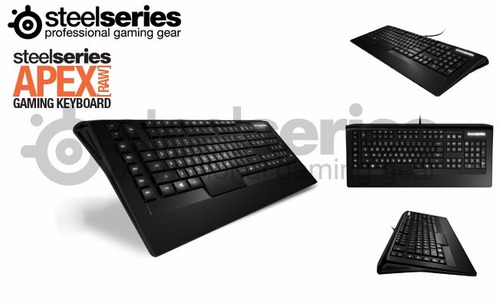 teclado steelseries apex raw iluminado, especial para gamer