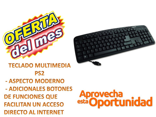 teclado teclados marca eqqus k8860mbk ps2