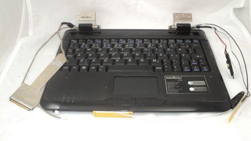 teclado topcase completo netbook intelbras iplug
