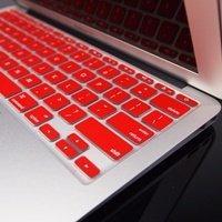 teclado topcase rojo de la cubierta de piel de silicona par