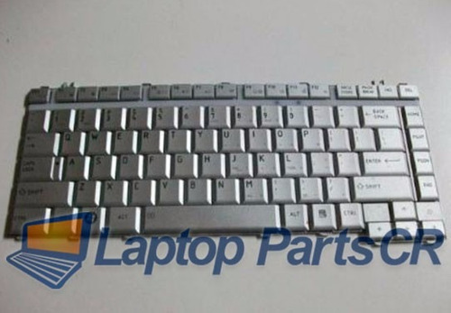 teclado toshiba a200 a205 silver / blancos, laptop parts cr