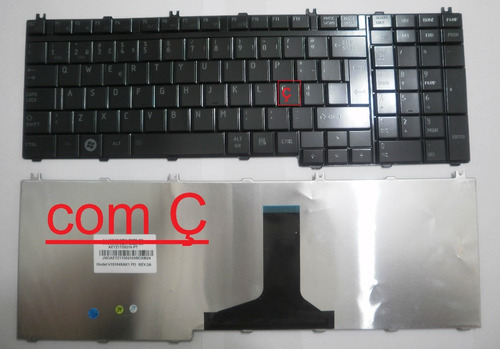 teclado toshiba a500 l500 l350 p200 p300 x300 com ç