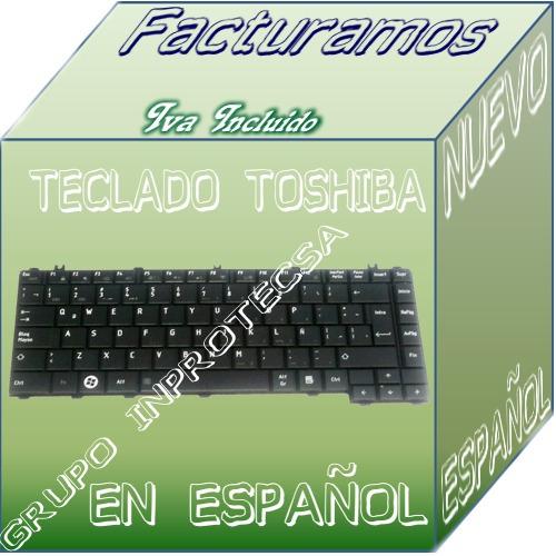 teclado toshiba c640d c645 c645d c600 negro español eex