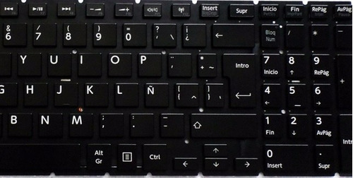 teclado toshiba l50-b l50d-b l50t-b p55w español original