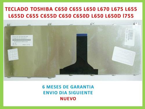 teclado toshiba l655 c650 c655 l650 l670 l675 en español