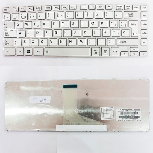 teclado toshiba  l845 blanco frame