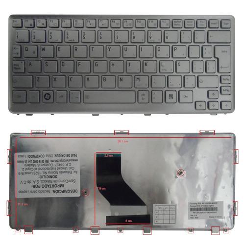 teclado toshiba mini nb300 nb301 nb305 nb303 plata españ maa
