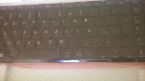 teclado toshiba p55t-asp iluminado 100% original