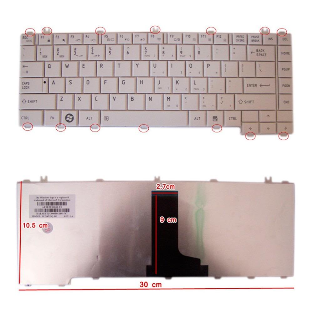 Toshiba Keyboard Laptop Satellite C600 C605 C640 L600 L630 L635 L640 Lcd Led L645 L740 L745 Teclado L730 Cargando Zoom