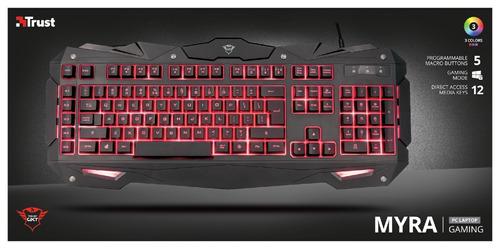 teclado trust gxt 840 myra gaming retroiluminado 3 colores