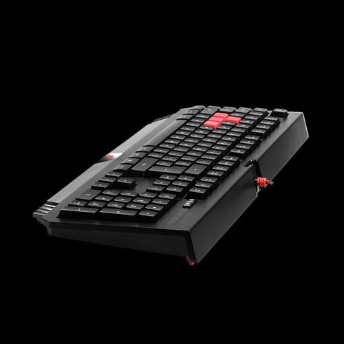 teclado usb game bloody turbo teclas anti-ghost b120 preto