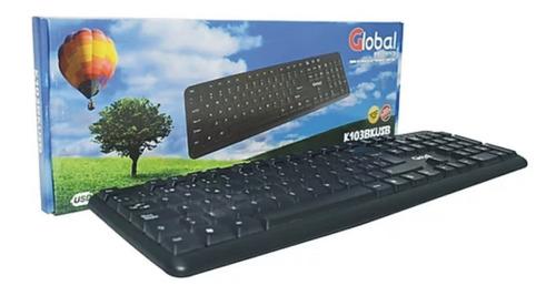 teclado usb global uso intensivo computadora k103bkusb
