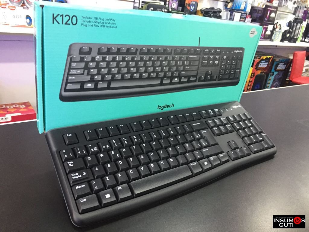 Teclado Usb Logitech K120 Ideal Pc Negro Espaol 41500 En Keyboard Cargando Zoom