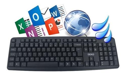 teclado usb padrão a prova d'água standard abnt2 usb rl-k01