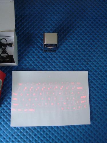 teclado virtual laser bluetooth magic cube