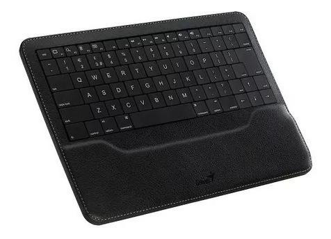 teclado wireless genius luxepad bluetooth negro para ipad