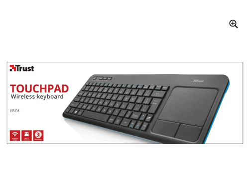 teclado wireless smart tv touchpad trust veza