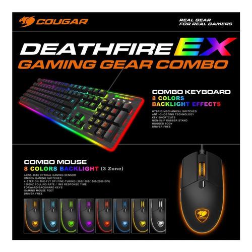 teclado y mouse cougar deathfire ex led mecanico hibrido