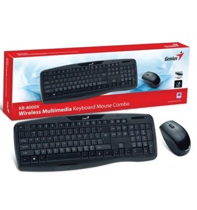 teclado y mouse genius  inalambrico slimstar kb-8000 3134000