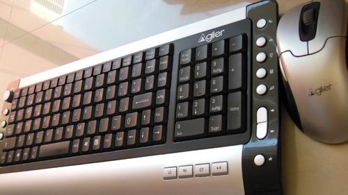 teclado y mouse inalambrico recargable agiler