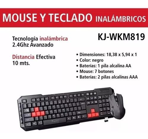 teclado y mouse kanji kj-wkm819 inalambrico