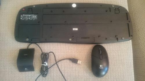 teclado y mouse logitech ex100 inalambricos