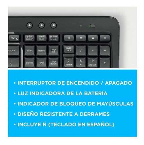 teclado y mouse logitech mk540 inalambrico gtia oficial 6c