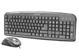 teclado y mouse óptico acteck ak2-2300, ps/2 (uete-162)
