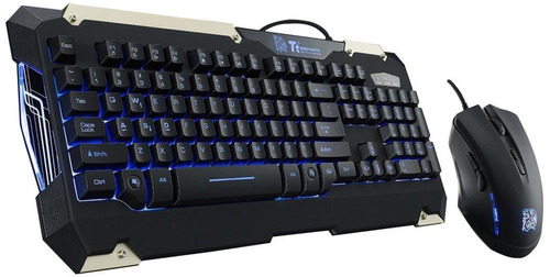 teclado y mouse thermaltake gamer retroiluminado