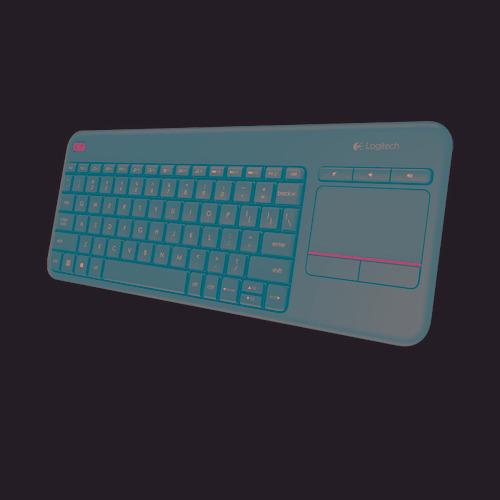 teclado y touchpad logitech k400 plus usb wireless