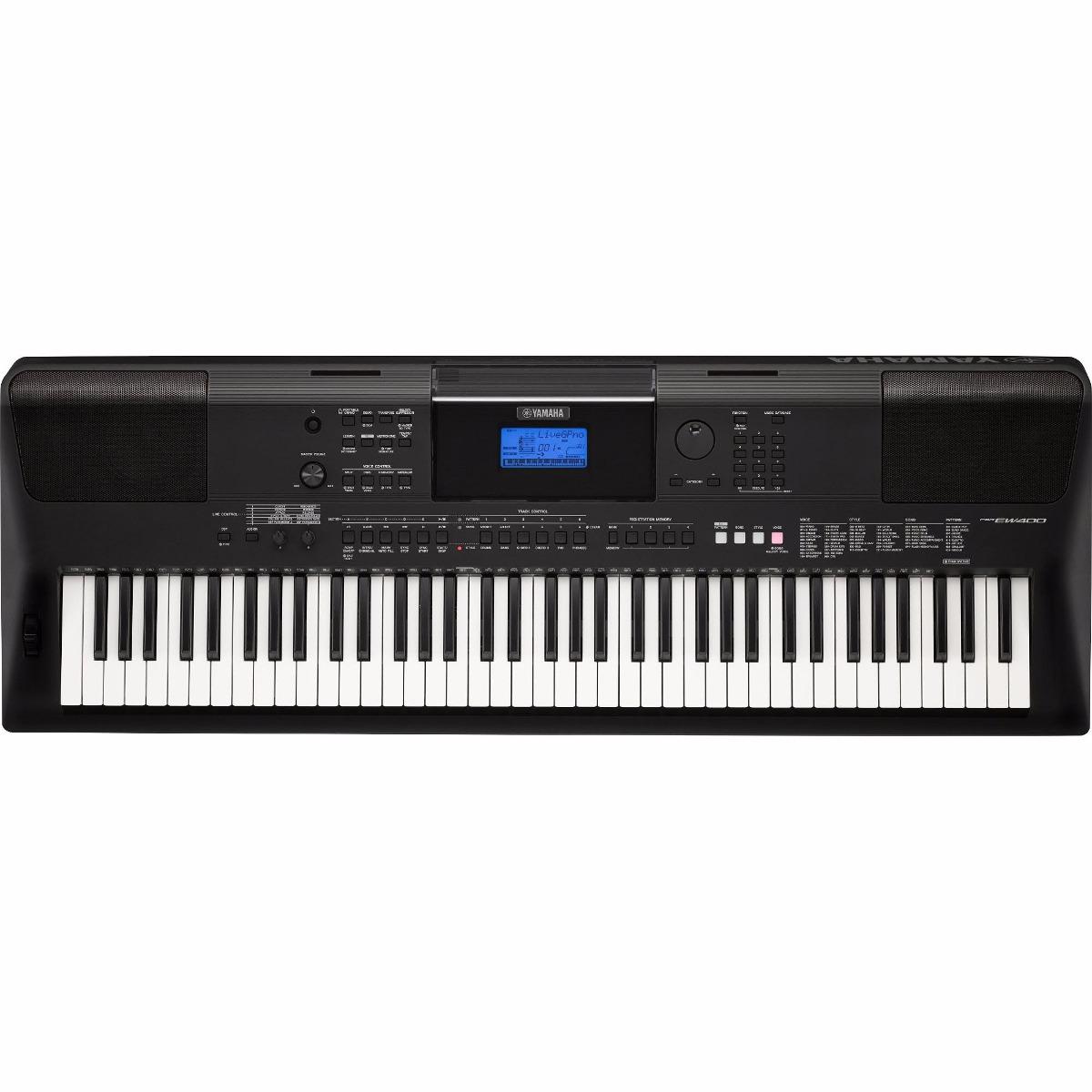 teclado yamaha arranjador port til psr ew400 preto c fonte r em mercado livre. Black Bedroom Furniture Sets. Home Design Ideas