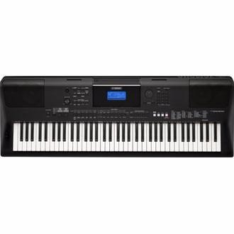 teclado yamaha arranjador portátil psr ew400 preto com fonte