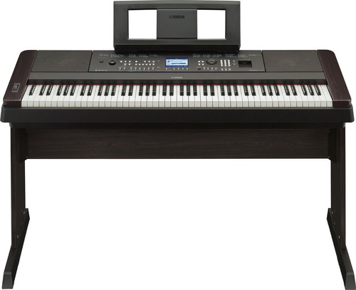 teclado yamaha dgx650 con base y adaptador + pedal sustain