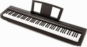 teclado yamaha p45 con atril, pedal, adaptador, $ locura !!!