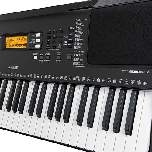 teclado yamaha psr-e363 - com fonte e porta partitura