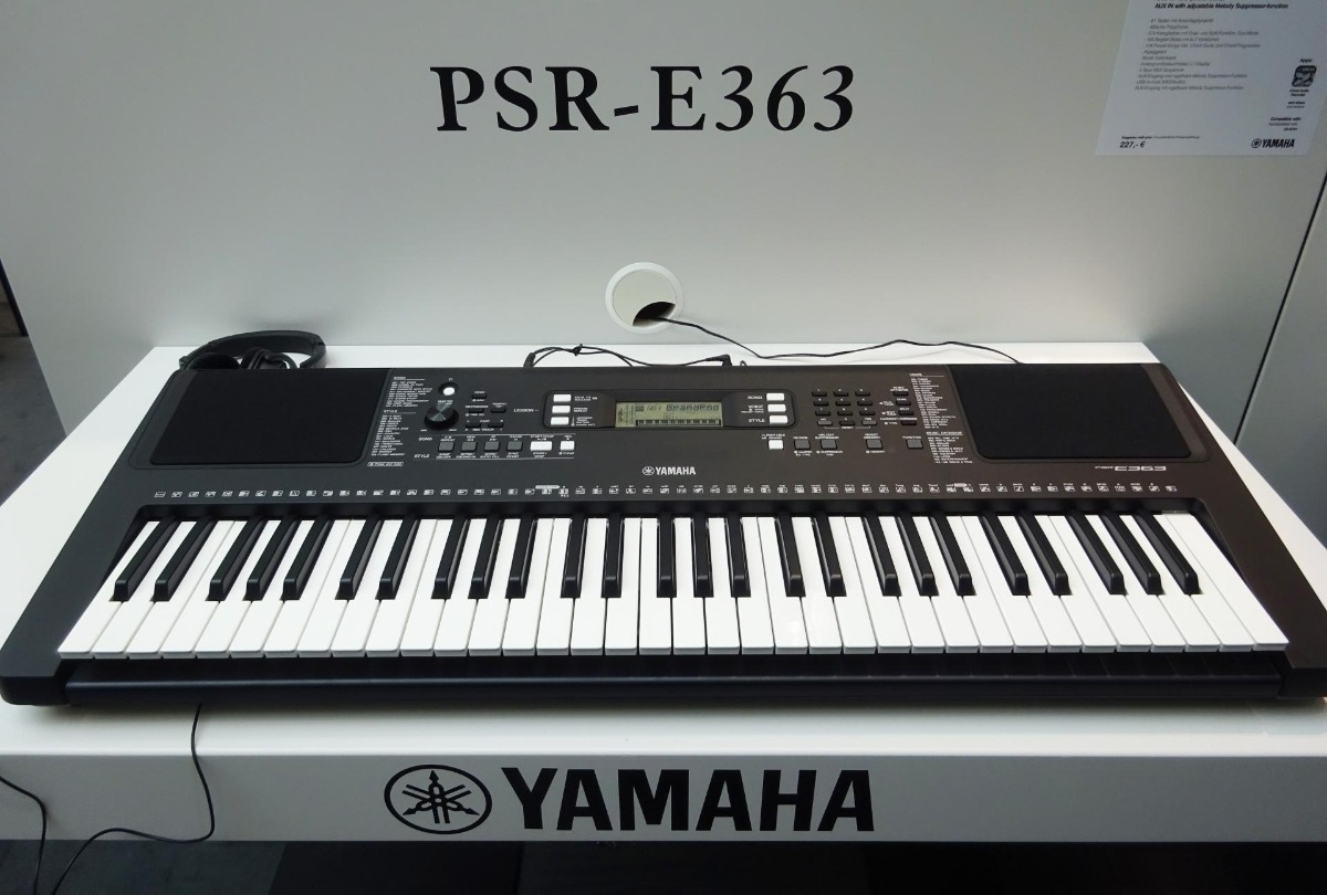 teclado yamaha psr e363 nuevo en caja s 899 00 en. Black Bedroom Furniture Sets. Home Design Ideas