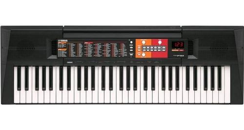 teclado yamaha psr-f51 com 61 teclas 120 timbres e 114 ritm