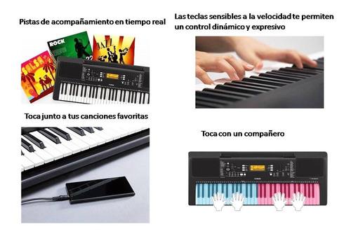 teclado yamaha psre363 sensitivo + fuente + sop + funda