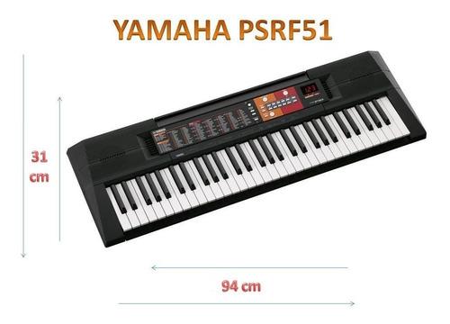 teclado yamaha psrf 51 61 teclas + fuente de regalo