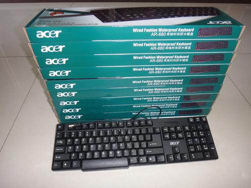teclados dell/acer puerto usb 2.0 totalmente nuevos