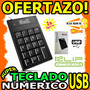 Wow Teclado Numerico Usb Klip 19 Teclas Pc Laptop