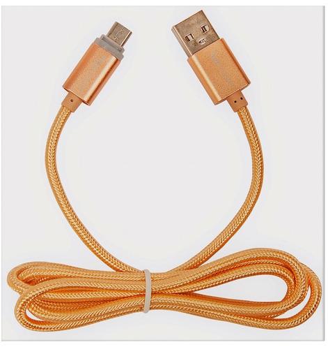 tecmaster cable micro usb reforzado carga rápida 2.1 amp led