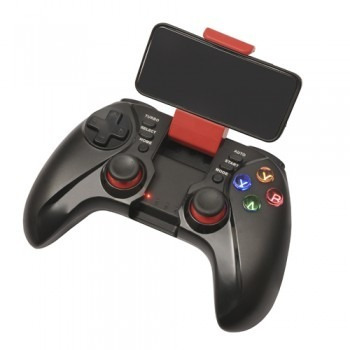 tecmaster joystick gamepad para telefonos bluetooth rojo