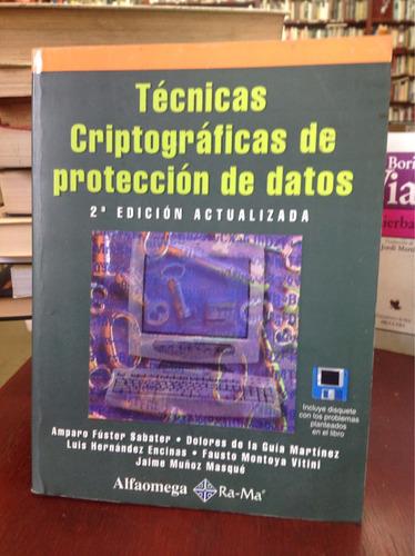 técnicas criptograficas de protección de datos ed. alfaguara