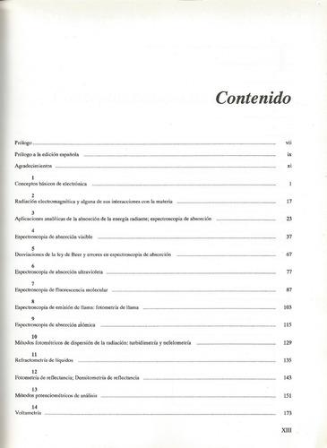 técnicas instrumentales de análisis en química clínica. .